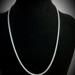 Silver Plated 2mm Snake Chain